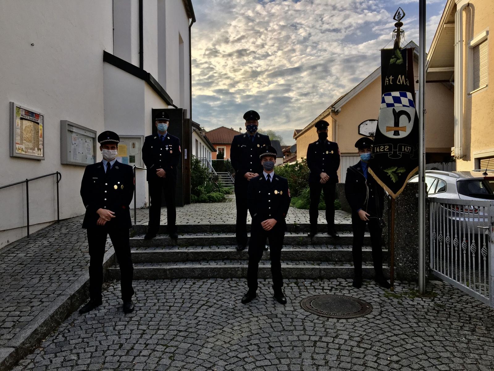 Delegation der Feuerwehr beim jährlichen Florianiamt
